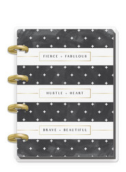 Mambi Micro Happy Notes -muistikirja, Rongrong, Black and White Stripe