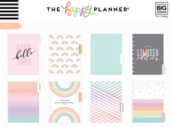 Mambi Happy Planner 12-Month Dated Classic Planner -kalenteri, Pastel Dreams