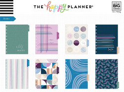 Mambi Happy Planner 12-Month Dated Classic Planner -kalenteri, Jujube Geo Dreams