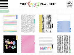 Mambi Happy Planner 12-Month Dated Classic Planner -kalenteri, Funky Brights