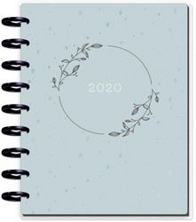 Mambi Happy Planner 12-Month Dated Classic Planner -kalenteri, Dainty Details Teal