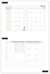 Mambi Happy Planner 12-Month Dated Classic Deluxe Planner -kalenteri, World Homebody