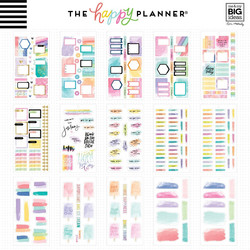 Mambi Happy Planner Value -tarrapakkaus Watercolor Goals