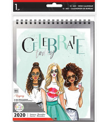 Mambi 2020 Spiral Desk Calendar - Rongrong, pöytäkalenteri