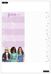 Mambi Happy Planner Classic Half Sheet paperipakkaus, Rongrong, Focus On