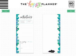 Mambi Happy Planner Classic Half Sheet paperipakkaus, Stargazer, Intentions