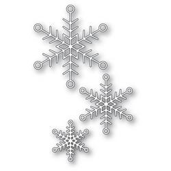 Memory Box Jolly Snowflake Trio -stanssisetti