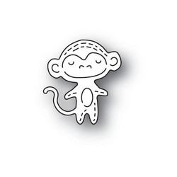 Poppystamps Whittle Monkey -stanssi