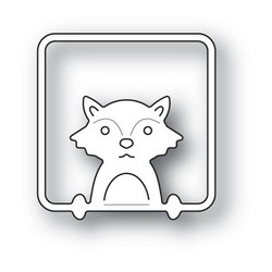 Poppystamps Peek A Boo Fox -stanssi