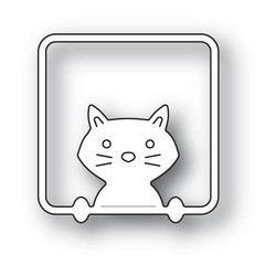 Poppystamps Peek A Boo Kitty -stanssi