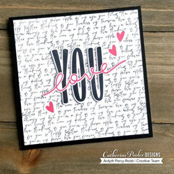 Catherine Pooler leimasin Love Note Background