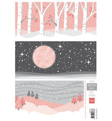Marianne Design Eline's Snowflake Kisses Backgrounds -korttikuvat