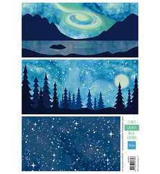 Marianne Design Eline's Galaxy Backgrounds -korttikuvat