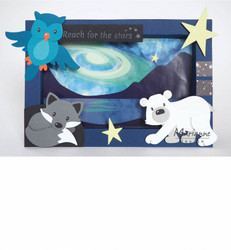 Marianne Design Eline's Galaxy Backgrounds -korttikuvat