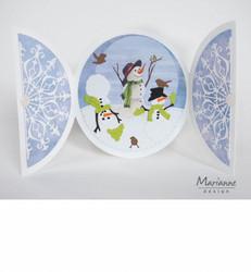 Marianne Design Tiny's Snowmen -korttikuvat