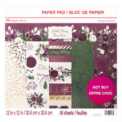 Craft Smart paperipakkaus Gilded Berry, 12