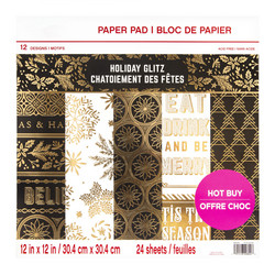 Craft Smart paperipakkaus Holiday Glitz, 12