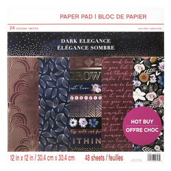 Craft Smart paperipakkaus Dark Elegance, 12