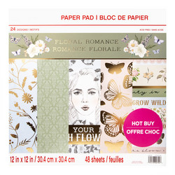 Craft Smart paperipakkaus Floral Romance, 12