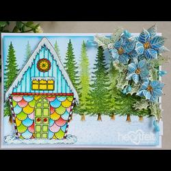 Heartfelt Creations Candy Cane Cottage -leimasin