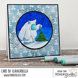 Stamping Bella Yeti With A Star On Top -leimasin