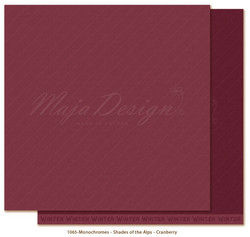 Maja Design Monochromes - Shades of the Alps skräppipaperi Cranberry