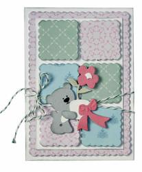 Joy! Crafts stanssi Teddy Bear with Flower