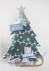 Marianne Design sapluuna Christmas Tree by Marleen