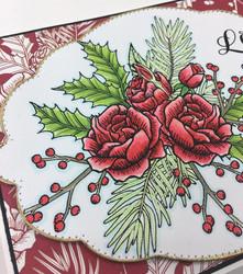 Dare2BArtzy leimasinsetti Holiday Rose