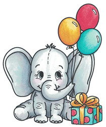 Dare2BArtzy leimasinsetti Baby Elephant