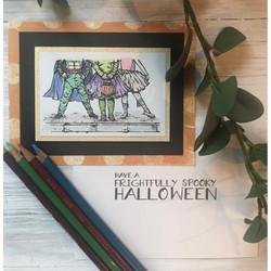 Colorado Craft Company leimasinsetti Lovely Legs - Happy Halloween