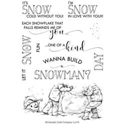 Colorado Craft Company leimasinsetti Lovely Legs - Build A Snowman
