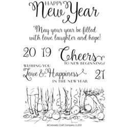 Colorado Craft Company leimasinsetti Lovely Legs - Happy New Year