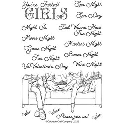 Colorado Craft Company leimasinsetti Lovely Legs - Girls Night In