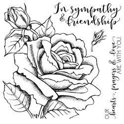 Colorado Craft Company leimasinsetti Sympathy & Friendship Rose