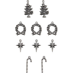 Tim Holtz Idea-Ology Adornments Yuletide, metallikoristeet