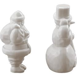 Tim Holtz Idea-Ology Salvages Santa and Snowman -koristeet