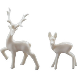Tim Holtz Idea-Ology Resin Decorative Reindeer -koristeet