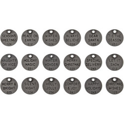 Tim Holtz Idea-Ology Metal Quote Tokens Christmas Words
