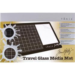 Tim Holtz Glass Media Mat -alusta, Travel, oikeakätinen + suojapussi