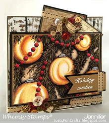 Whimsy Stamps Ornaments Background -leimasin