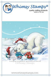 Whimsy Stamps Polar Bear and Seal -leimasin