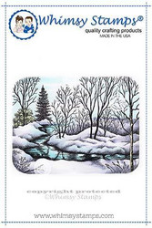 Whimsy Stamps Peaceful Stream -leimasin