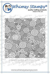 Whimsy Stamps Curly Q's Background -leimasin