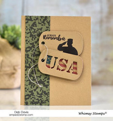 Whimsy Stamps Military Camo Background -leimasin