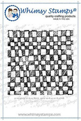 Whimsy Stamps Checkerboard Doodles Background -leimasin