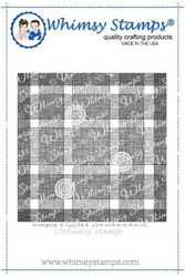 Whimsy Stamps Buffalo Plaid Background -leimasin