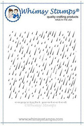 Whimsy Stamps Rain Drops Background -leimasin