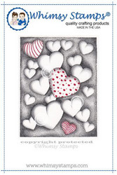 Whimsy Stamps Hearts Floating -leimasin