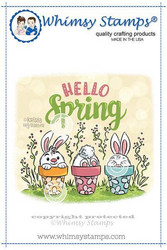 Whimsy Stamps Hello Spring Bunnies -leimasin